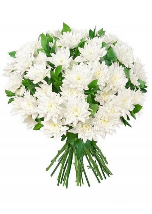 Купить букет из 15 кустовых хризантем в Барнауле