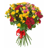 Букет из 7 кустовых роз