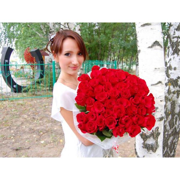 Букет из 51 розы фото