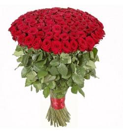 Букет из 101 крупной розы