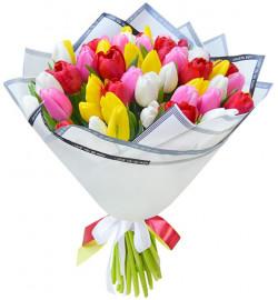 Микс из 55 тюльпанов